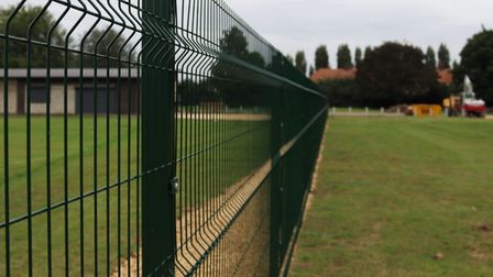 Fencing has been installed at the Estover Road pavilion and playing fields in March, and it is expec