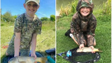 Twelve-year-old Cobey Thomson, who has organised a charity fishing match in memory of his dad Rob, h