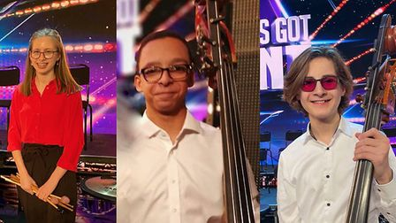 Sana, Charles and Shesh in the Chineke! Junior Orchestra on Britain's Got Talent. Picture: Felsted S