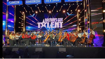 The Chineke! Junior Orchestra including three Felsted School students on Britain's Got Talent. Pictu