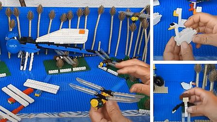 People are being asked to build a LEGO® model of something related to the Fens in a competition bein