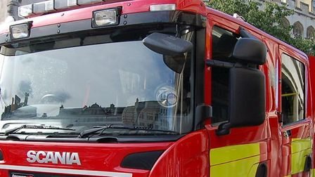 """A1101 collision. """"Firefighters used specialist equipment to release two casualties from their vehicl"""