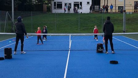 Dunmow Tennis Club's Saturday Junior Coaching Programme resumed after five months away, with newly r