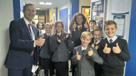 It was smiles all round as Ely College welcomed pupils for the first day of the new academic year. M