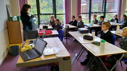 It was smiles all round as Ely College welcomed pupils for the first day of the new academic year. P