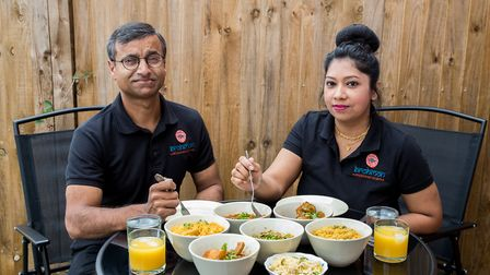 Karim and his wife Sultana of Brohmon restaurant in Stansted. Photo: Alison Jenkins