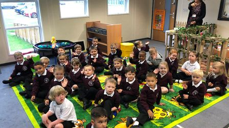 Cromwell Community College in Chatteris welcomed reception pupils to the school for the first time.
