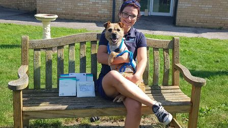 Brave Maggie is doing incredibly well on three legs thanks to the care of RSPCA Block Fen Animal Cen