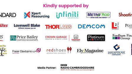 Your business sponsors for this year's Ely Hero Awards. Picture: ELY HERO AWARDS