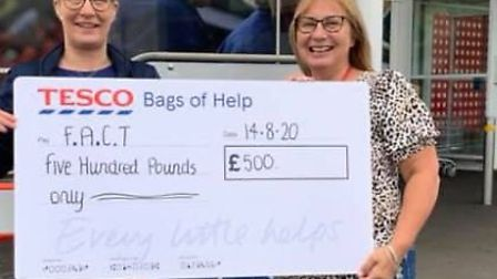 FACT have received a £500 donation from Tesco March to go towards their expenses of supporting the c