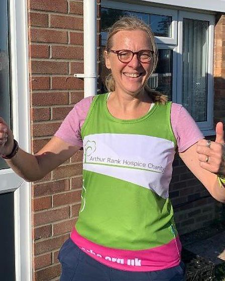 Littleport runners turned out in force for a charity run in memory of friend Wendy Johnson's husband