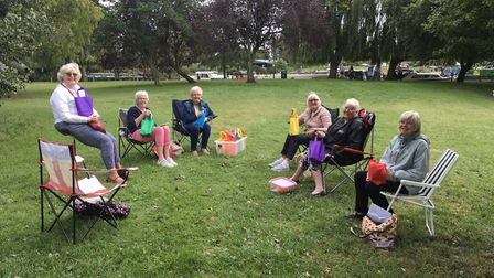 A small group of ladies from Ely Northwold Women's Institute decided to have an open air get togethe