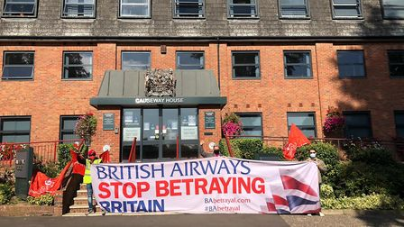 British Airways workers and Unite the union members held a protest in Braintree. Picture: Unite