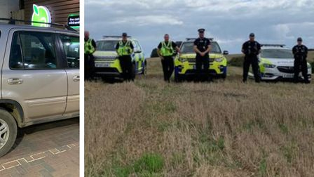 This vehicle (LEFT) was seized by police on suspicion of being used for illegal hare coursing when