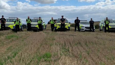 Day of action by rural police in Cambridgeshire and Essex to tackle hare coursing. Picture; CAMBS CO