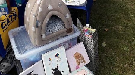 Cats Protection's Ely branch raised £200 at an event last Saturday at St Andrew's Church in Soham. P