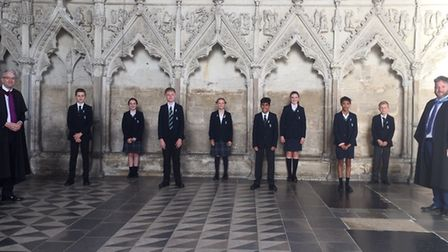 Junior heads of houses at King's Ely. Picture: Supplied