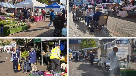 The market at March and Wisbech was packed on Saturday, September 19 as dozens of shoppers returned