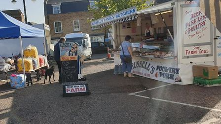 The market at March was packed on Saturday, September 19. Picture: Nora Reitmeyer