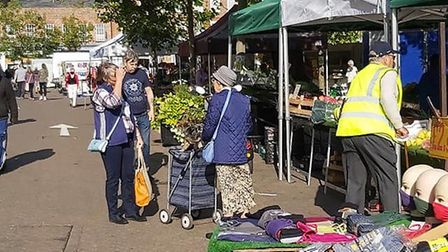 The market at Wisbech was packed on Saturday, September 19. Picture: Alan Wheeldon