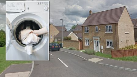 Two people were treated for smoke inhalation after a tumble dryer caught fire inside a home on Leste