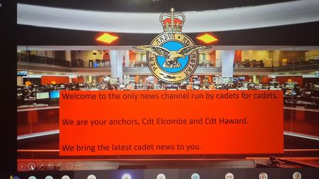Members from the 1094 Ely Squadron Royal Air Force Air Cadets helped launch their own television cha