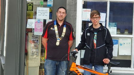 Stuart Rayner and Nathan Kosciecha. Picture: Whittlesey Roundtable