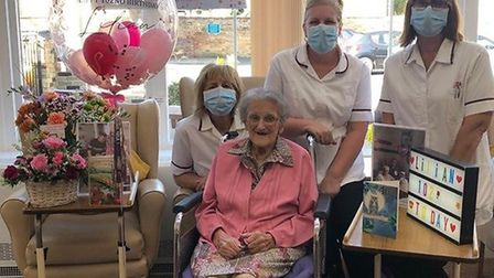 Lilian Taylor celebrated her 102nd birthday at The Hermitage Residenital Home in Whittlesey. Picture