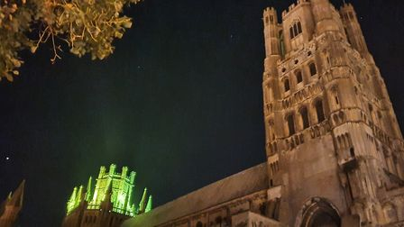 Ely Cathedral will join landmarks such as Blackpool Tower and the London Eye in lighting up green as