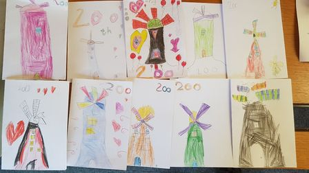 Year 1 pupils at Burwell Village College (Primary) made these cards to celebrate the 200th birthday
