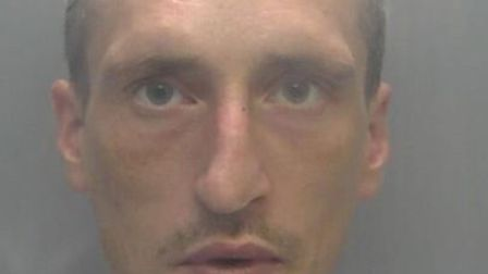Michael O'Loughlin has been jailed for robbing a vulnerable 73-year-old man of £40 while he sat wait