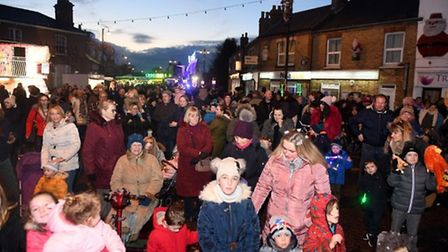 Throwback to the 2019 Chatteris Christmas lights switch-on. Picture: IAN CARTER
