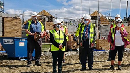 Palace Green Homes welcomed Haddenham Community Land Trust trustees to the West End development in A