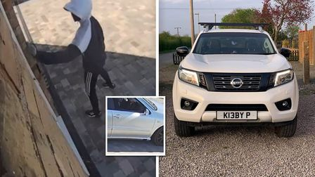 Suspects were caught on CCTV after Nissan Navara 4x4 was stolen from a home in Coldham near Guyhirn