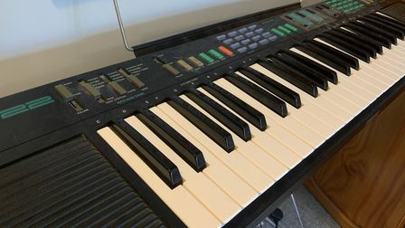 His 25-year-old keyboard. Picture: Supplied