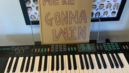 Working on the We're Gonna Win track. Picture: Supplied