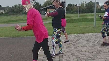 The start of Race 2 at the 'Race for Life' event organised by Littleport Parkrun Buddies. L-R Cathy