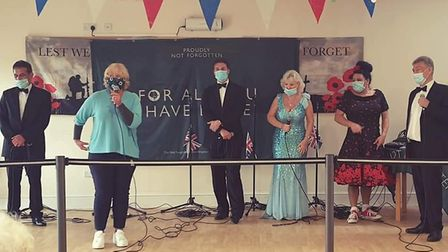 Veterans charity The Not Forgotten performed a free concert of wartime music from the 30s through to