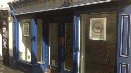 Work is currently ongoing to transform the Burrow's Bookshop building in High Street Passage, Ely, i