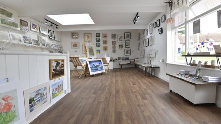 Wonky Wheel gallery, Finchingfield. Picture: Mary Turley