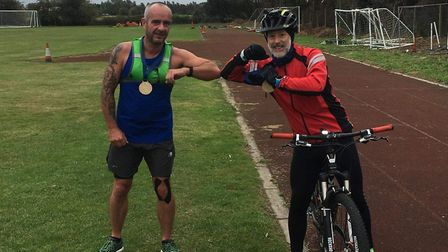 March Athletic Club took part in the virtual Round Norfolk Relay event, completing the race with two