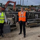 Mayor James Palmer on a recent visit to Arbus Ltd in Burwell. The firm received £38k funding from th