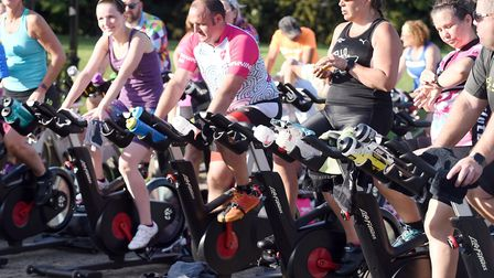 Was this just a year ago? Forty riders in Fenland took on a spinning class as the sun went down at t