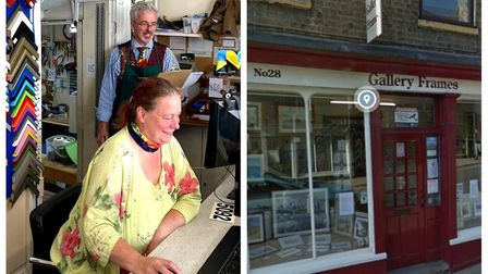Celebrity freelance auctioneer David Palmer and wife Mary helped lead an online shop sale at the cit