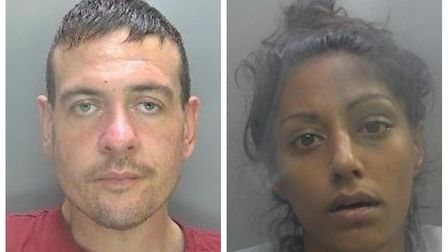 Benjamin Hendy (left) and his partner Camilla Rumsey (right) were jailed after they stole bicycles f