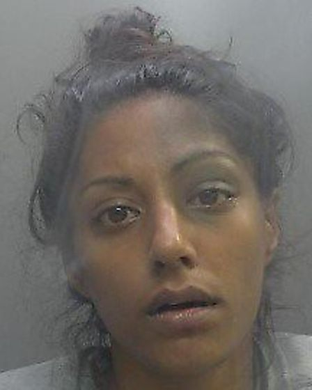 Camilla Rumsey was jailed after they stole bicycles from Huntingdon and St Neots railway stations. P