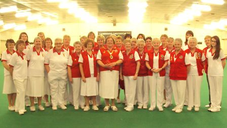 The Norfolk Ladies team line up for the camera before their Atherley Trophy quarter-final against Ca