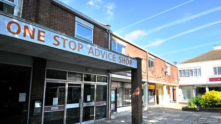 St Nicholas Court shopping precinct, North Walsham. 1a is the One Stop Advice Shop on the left. Picture: SUBMITTED.