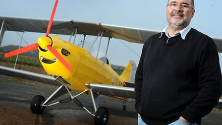 Paul Hendry-Smith of the Light Aircraft Company, who is preparing to sell the Sherwood Ranger aircra