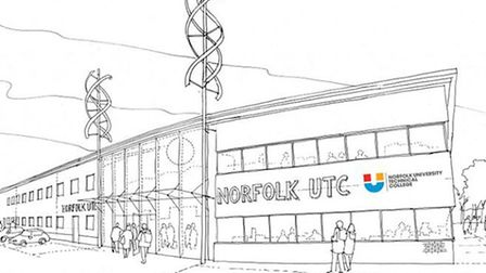 Artists impression of Norfolk University Technical College which is due to open in September 2014.